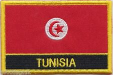Tunisia Flag Embroidered Patch Badge - Sew or Iron on