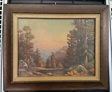 Vintage Art High Sierra Woods Mountain Forest Landscape Robert Wood California