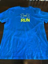 Under Armour Men's Rum Blue Medium Heat Gear Loose Shirt