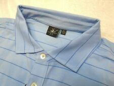 Fairway & Greene Performance Fabric Berra Stripe Blue Polo Golf Shirt NWT XL $95