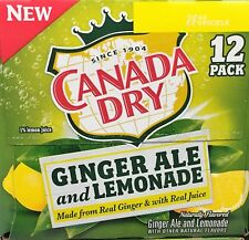 Canada Dry Ginger Ale & Lemonade Soda 12 pack