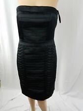 H&M Bodycon Tube Dress Size 8 Black Back Zipper Clubwear Designed Front Mini