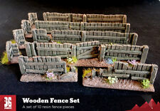 28mm Scale Resin Wooden Fence Set