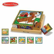 Pets Wooden Cube Puzzle Toys Fun Kids - Melissa And Doug