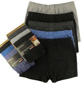 3x Pairs Mens Boxer Shorts Plain Underwear Classic Cotton Rich Boxers S-2XL