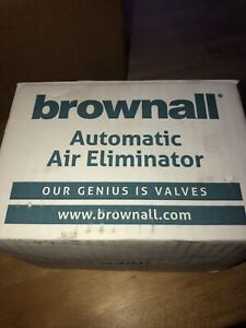 BROWNALL AUTOMATIC AIR ELIMINATOR TYPE B (NEW)