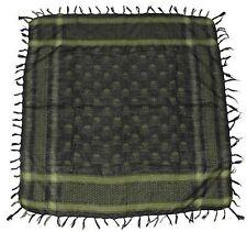 MIL.701 - Kefiah (Shemagh) verde-nera con teschietti 100 x 100 cm