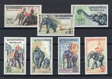 Laos 1958 Elephant set clean MNH OG