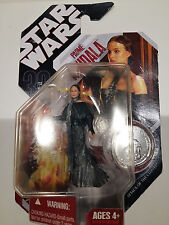 2007 BOXED STAR WARS PRINCESS PADME AMIDALA FIGURE, 90MM WITH COLLECTORS COIN