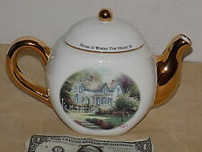 "Thomas Kinkade Holiday ""Home is Where the Heart is"" Decorative Teapot"