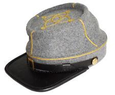American Civil War Confederate All Grey 1st Or 2nd Lieutenant Kepi Large