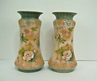 """Two identical twin Vintage vases numberd 2224 in red 9.25""""s tall"""