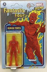 "Marvel Legends Retro 375 Collection Fantastic Four Human Torch 3 3/4"" Hasbro 21"