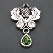Scottish Thistle avec couronne argent sterling .925 Broche par Peter Stone