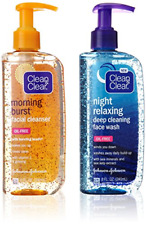 Clean & Clear 2-Pack of Day & Night Face Wash with Citrus Morning Facial & Night
