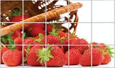 Fresh Fruit Strawberry Wall Decal Sticker Kitchen Exhaust Grease Oil Proof