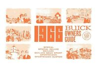 1966 Buick GS Skylark Wagon Special Owners Manual User Guide Operator Book OEM
