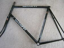 FAUSTO COPPI, BLACK, ENGRAVED STEEL ROAD FRAME SET, 61/59cm , NOS/NEW