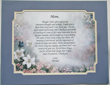 Personalized Poem for your Mom ** Birthday or Mother's Days Gift Idea **L@@K**