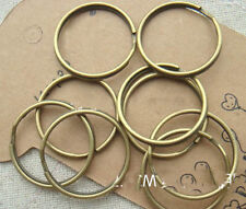 "50 Pc Bronze Thin Round Key Ring 24mm 1"" Split Ring Keychain Finding Make DIY"