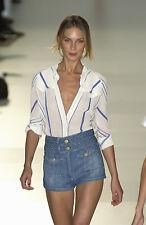 Chloe FAMOUS COLLECTOR'S Chloé High Waist Braid Blue Jean Mini Skirt Miniskirt 2