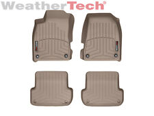 WeatherTech Floor Mats FloorLiner for Audi A4/S4/RS4 - 1st & 2nd Row - Tan
