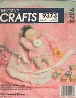 PUPPET BABY DOLL, Clothes, Bunting UNCUT Sewing Pattern McCall's 9373