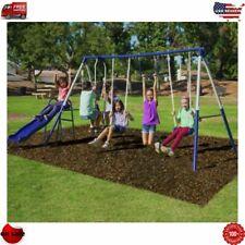 Sportspower Arcadia Metal Swing Set Playground Outdoor Playset Quality Comfort