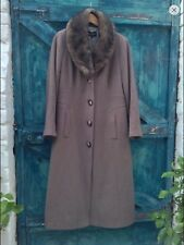 womens coat16 Debenhams bown wool vintage 40s style faux fur collar fitted Vgc