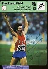 Bruce Jenner Signed Jsa 1977 Sportscaster Authentic Autograph