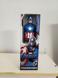"Captain America 12"" by HASBRO Marvel Avengers Titan Hero Series  Free Shipping"