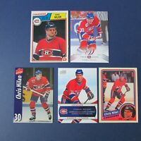 CHRIS NILAN 1983-84 O-Pee-Chee OPC # 194 MINT + 4 diff cards MONTREAL CANADIENS