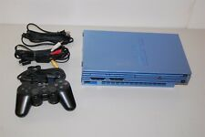 Sony playstation 2 Aqua Blue console system japan Ps2 SCPH-39000
