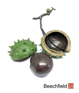 Large Conker Bronze Figurine, Limited Edition of 95