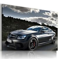 MERCEDES CLK BLACK SUPER Sports Cars Wall Art Canvas Picture  AU647 MATAGA