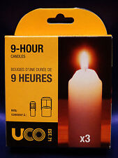 UCO 9 Hour Candle 3-Pack for Candle Lantern Camping Tactical Backpacking NEW