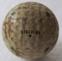 VINTAGE SPALDING DOT GOLF BALL-MULTI-MARKINGS CIRCA 1930'S CURVED SPALDING NAME