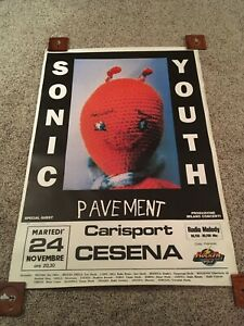 Sonic Youth Dirty Tour Concert Poster Italy 1992 Original Poster With Pavement