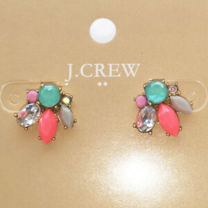 New Jcrew Resin Floral Stud Earrings Gift Vintage Women Party Holiday Jewelry