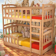 Kids Bed MACIEJ with Mattresses, Bunk Bed, Storage Container, Pine Wood, New