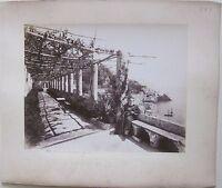 1890ca AMALFI DAL HOTEL CAPPUCCINI Giorgio Sommer foto original albumina 25x20cm