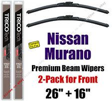 Wipers 2-Pack Premium Wiper Beam Blades - fit 2009-2014 Nissan Murano 19260/160
