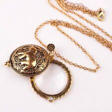 Plated Fashion Long Chain Hollow Jewelry Necklace Elephant Magnifying Glass