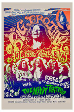 Janis Joplin & Big Brother at Selland Arena Poster 1968  2nd Printing
