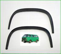 VW TRANSPORTER T3 Radlauf Zierleisten 2 Stück HINTEN schwarz matt Bj. 79-92