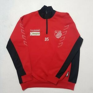 Hummel x FC 1946 Rossbach Track Top   Large   Red/Black   Rare