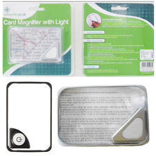 Portable Magnifier Light LED Magnifying Card Glass Vision Aid Handy Travel Read