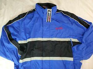 Ford Motorcraft Racing Jacket Full Zip Mens Large Fred Jones Blue Windbreaker