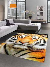 Tapis de design tapis de salon motif de tigre crème noire orange