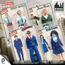 SUPERMAN RETRO SERIES 2; 8 INCH ACTION FIGURES. SET OF 4 , LOIS, JIMMY. PERRY